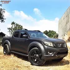 nissan frontier 2001 custom nissan frontier xd series xd811 rockstar 2 wheels satin black and