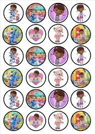 doc mcstuffin cake toppers 24 doc mcstuffins edible premium thickness sweetened