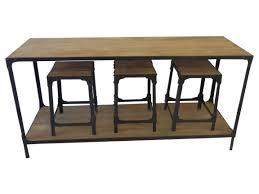 table console pour cuisine ensemble console et tabourets cette console en bois et métal de