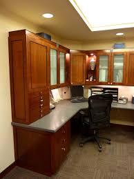 Office Desk With Cabinets U Shaped Office Desk With Hutch Transitions Custom Desks Eecutive