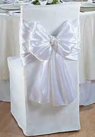 bows for wedding chairs white satin chair wrap chair bows and sashes wedding reception