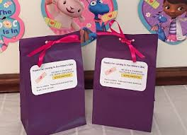 personalized party favor bags personalized doc mcstuffins birthday party favor bags doc