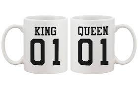 com king 01 queen 01 couple mug set matching ceramic cups cute