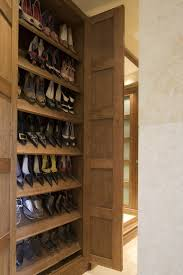 Shallow Closet Organizer - shallow built in cabinetry provides shoe storage storage