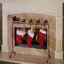 interior home decor decorating modern fireplace design with stocking holder stand for