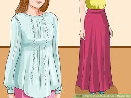 3 ways to dress modestly as a muslim wikihow