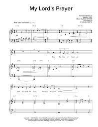 my lord u0027s prayer sheet music by regi stone piano u0026 vocal u2013 160831