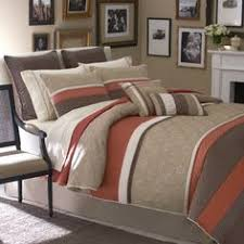 Bed Bath And Beyond Brookfield 8pc Modern Color Block Sage Green Ivory Comforter Set Brown