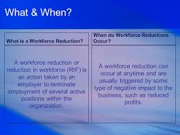 workforce reduction executing a workforce reduction