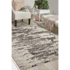 Nourison Kitchen Rugs Nourison Maxell Ivory Grey Rug 5 3 X 7 3 Free Shipping Today