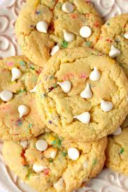 birthday cake mix cookies recipe crunchy creamy sweet