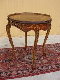 Antique Accent Table Antique Furniture Italian Antique Inlaid L Table Side