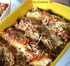 la recette de cuisine cuisine recette de cuisine pour le soir inspirational cannellonis