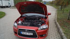 mitsubishi cars 2009 mitsubishi lancer how to open the hood youtube