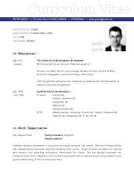 Resume Vitae Sample by Sample Cv Sample Resume Format