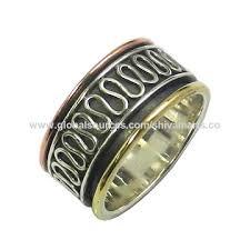 sterling silver hammer ring jewelry silver brass copper meditation