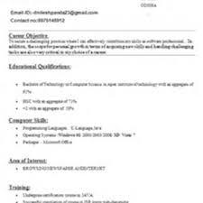 Resume For Mca Student Resume Of Mca Fresher