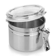 stainless steel airtight sealed canister coffee flour sugar tea home kitchen stainless steel airtight canister food container