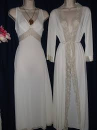 vintage 1960s bridal peignoir set by sears 2 piece nightgown and