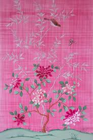 hand painted chinoiserie silk wallpaper panel u2014 diane hill design