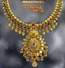 gold balls set with kundans jewellery designs