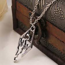 skyrim pendant necklace images Wholesale 2015 new dinosaur skyrim elder scrolls dragon silver jpg