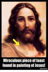 Meme Painting - miraculous piece of toast found in painting of jesus meme perlect