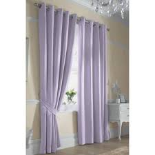 ella plain lined ring top eyelet curtains in lilac polyvore