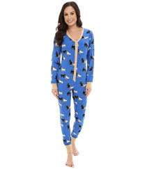 pj jumpsuit bedhead cats and dogs pj set blue cats and dogs womens