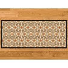 tapis de cuisine sur mesure paillasson cuisine écru azulejos