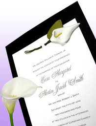 Black And White Wedding Invitations Black Invitation Ideas For Weddings And Special Events