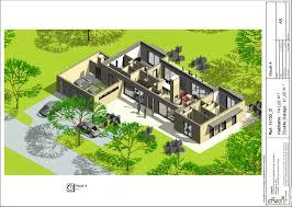 plan maison plain pied 5 chambres cuisine plan d maison plain pied contemporaine mâ suite plan