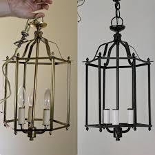 Spray Painting Brass Light Fixtures Brass To Beautiful Myrtle House Elizabeth Burns Design