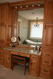 Bathroom Vanity With Makeup Station Custom Designed Bathrooms And Bath Remodels