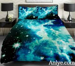 Duvet Cover Teal Galaxy Bedding Set Galaxy Duvet Cover Galaxy Sheet Galaxy