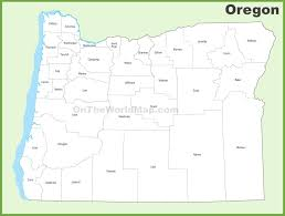 oregon county map oregon county map