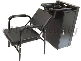 Shampoo Cabinet Round Shampoo Bowl Sink Cabinet Beauty Salon Equipment Chair Tlc