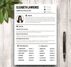 clean modern resume design administrative assistant clean professional resume template resume templates creative