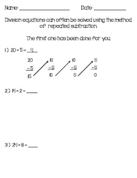 repeated subtraction worksheets free worksheets library download