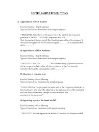 Simple Authorization Letter Act Behalf useful sample resolutions preferred stock board of directors
