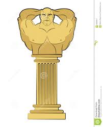 Greek Pedestal Torso Bodybuilder On Column Pedestal Classic Antique Sculpture