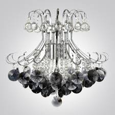 Crystal Sphere Chandelier Graceful Black Crystal Beads And Clear Crystal Balls Waterfall