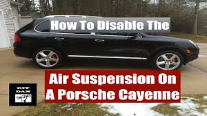 lifted porsche how to lift a porsche cayenne equipped with air suspension youtube