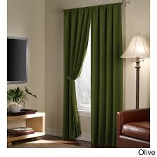 serenity blackout 84 inch curtain panel pair by maytex rod