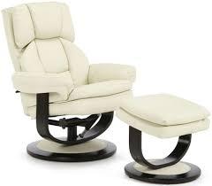 Leather Recliner Chair Uk Buy Serene Vardo Cream Bonded Leather Recliner Chair Online Cfs Uk