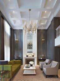 Livingroom Interior Design by Gorgeous Dark Walls And High Ceilings With Minimal But Traditional