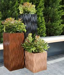 decor fabulous tall planters for cool garden decoration ideas