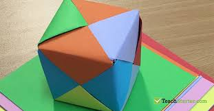 Paper Origami Box - easy and origami box for teach starter