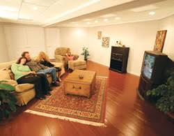 Basement Laminate Flooring Finished Basement Flooring Installed In Alberta Canada