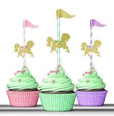 carousel cake topper carousel cake topper cupcake topper birthday decorations